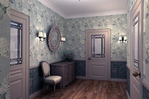 Modern Wallpaper for hallway in the style of provence
