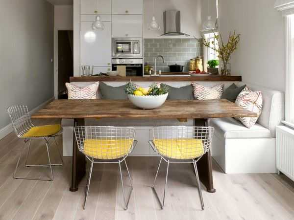 Small Sofa In The Interior Of The Kitchen Types, Rules For Choosing And Placing